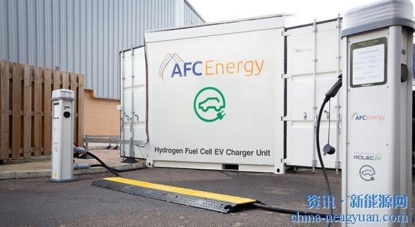 由氢燃料电池驱动的超级充电站