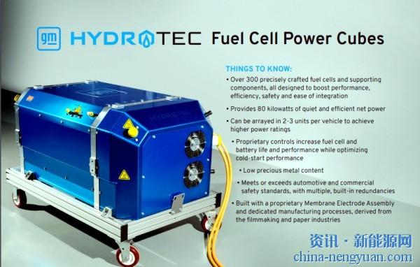 通用汽车推出氢燃料电池动力立方体