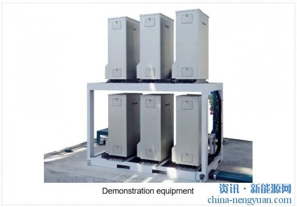 德山和松下合作演示6台集成的纯氢燃料电池发电系统